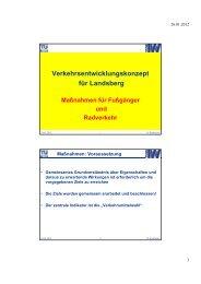 Verkehrsentwicklungskonzept für Landsberg von ... - Zukunft am Lech
