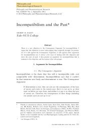Incompatibilism and the Past - Andrew M. Bailey