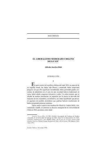 el liberalismo moderado chileno siglo xix - Centro de Estudios ...