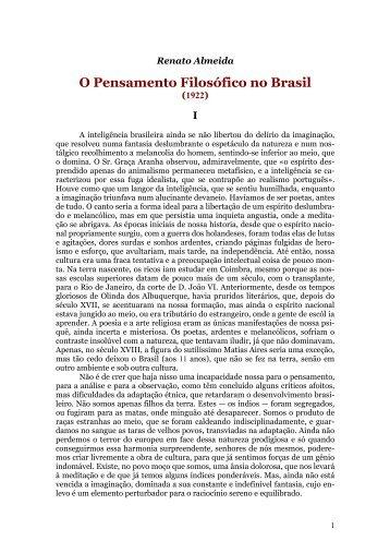 Renato Almeida - Curso Independente de Filosofia