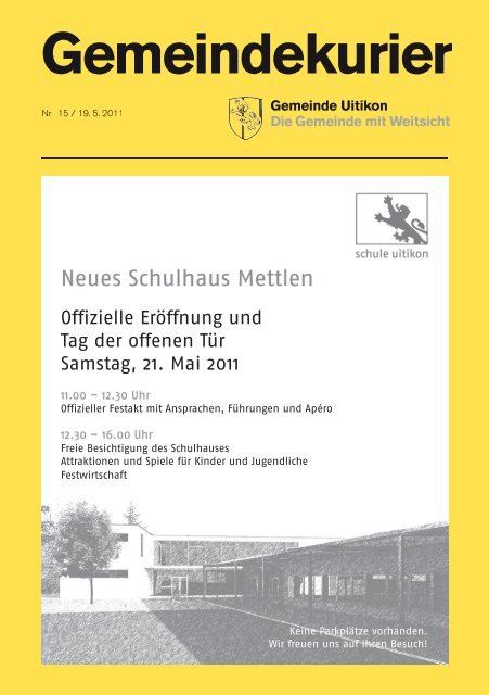 Gemeindekurier Nr 38 by Gemeinde Uitikon - issuu