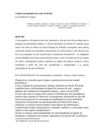Luiz Guilherme Vergara – Utopia Antropofágica
