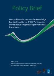 Unequal Development in the Knowledge Era: the Evolution of BRICS