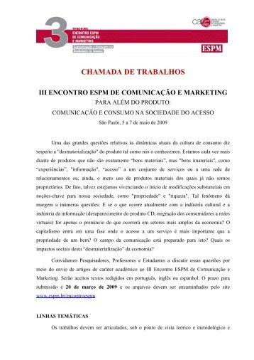 III Encontro ESPM de Comunicação e Marketing