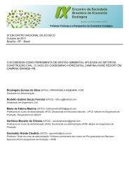 o ecodesign como ferramenta de gestão ambiental aplicada