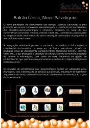 Balcão Único, Novo Paradigma - SMART Vision