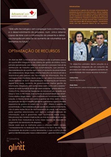 OPTIMIZAÇÃO DE RECURSOS - Glintt
