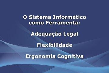 Adequação, flexibilidade e ergonomia cognitiva