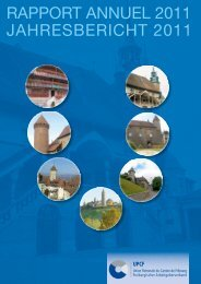 Jahresbericht 2011 - Union Patronale du Canton de Fribourg