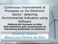 apresentação - Advances In Cleaner Production