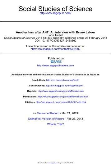 Social Studies of Science
