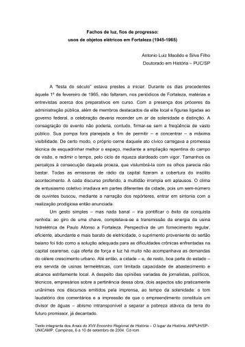 Antonio Luiz Macêdo e Silva Filho - ANPUH-SP