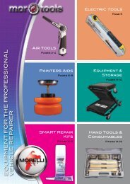 EQUIPMENT FOR THE PROFESSIONAL VEHICLE REPAIRER