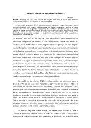 América Latina em perspectiva histórica - CFESS