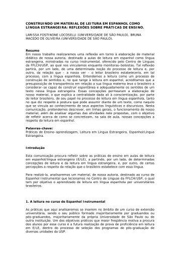 construindo um material de leitura em espanhol como língua ...