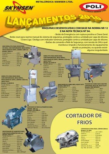 CORTADOR DE FRIOS - Metalúrgica Siemsen