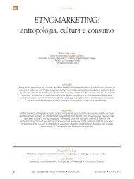 ETNOMARKETING: antropologia, cultura e consumo