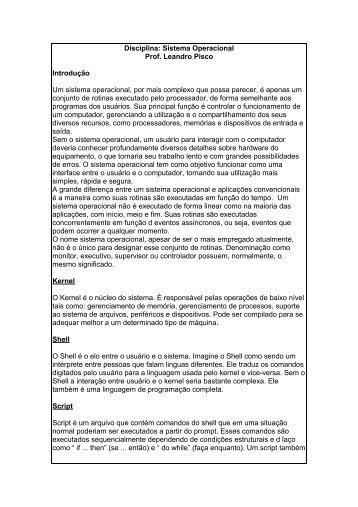 Sistema operacional - Apostila Completa