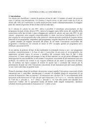 1 CONTROLLO DELLA CONCORRENZA 1. Introduzione Un ... - TWiki