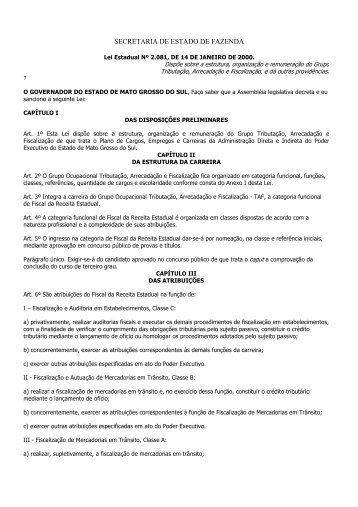 SECRETARIA DE ESTADO DE FAZENDA - Esaf