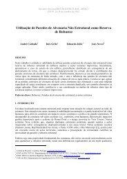 Utilização de Paredes de Alvenaria Não Estrutural como Reserva ...