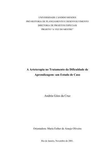 um Estudo de Caso Andréa Góes da Cruz - AVM Faculdade Integrada