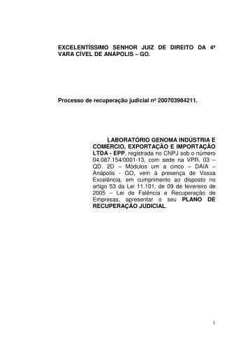 Plano de Recuperação - Airton Campos • Advocacia