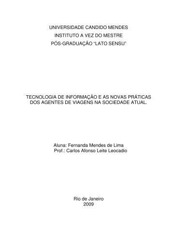 tecnologia de informação e as novas pr - AVM Faculdade Integrada