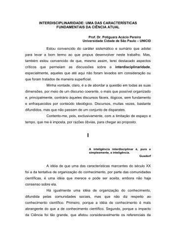 interdisciplinaridade: uma das características ... - José Norberto