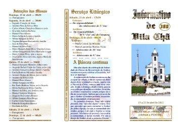 Informativo Semanal de Vila Chã 380