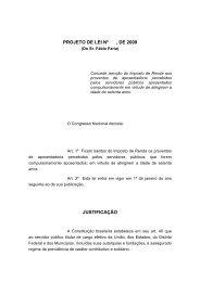PROJETO DE LEI Nº , DE 2009 JUSTIFICAÇÃO