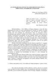 AS ATIVIDADES DE LEITURA NO LIVRO DIDÁTICO DE ... - GELNE