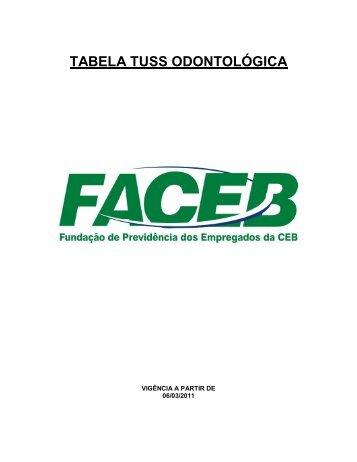 TABELA TUSS ODONTOLÓGICA - FACEB