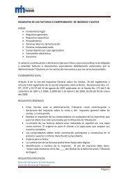 No 18 Requisitos de facturas