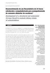 Artigo completo - Revista Nutrire