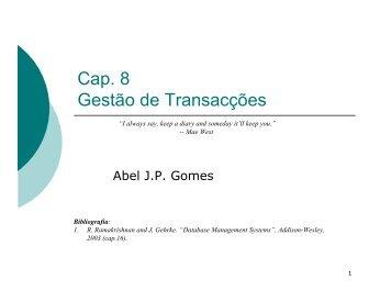 Cap. 8 Gestão de Transacções