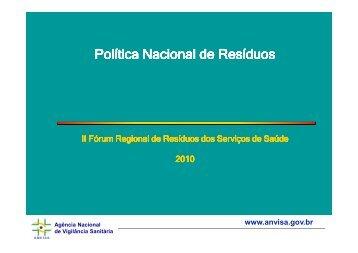 Plano Nacional de Resíduos Sólidos - SINDIHOSPA