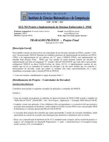 prjf - ICMC - USP