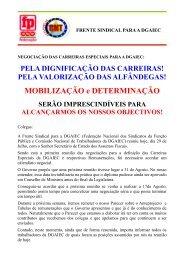 Negociação das Carreiras Especiais para a DGAIEC - Sindicato dos ...