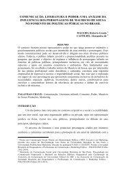 comunicação, literatura e poder: uma análise da influencia ... - Unesp