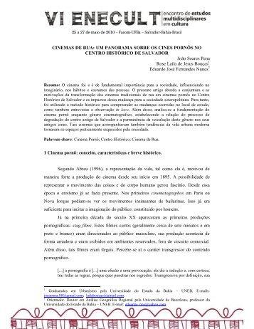 CINEMAS DE RUA: UM PANORAMA SOBRE OS CINES PORNÔS ...