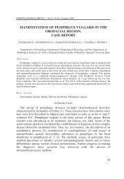 manifestation of pemphigus vulgaris in the orofacial region. case ...
