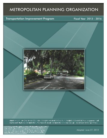 FY 2013-2016 Transportation Improvement Program (as Adopted