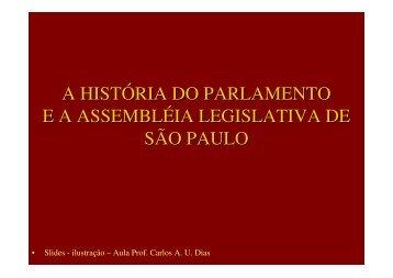 Aula 11 - História do Legislativo - Assembleia Legislativa do Estado ...