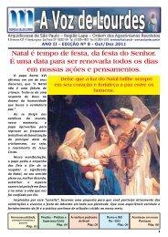 A Voz de Lourdes - Outubro/Dezembro-2011 - Paróquia Nossa ...