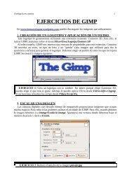 EJERCICIOS DE GIMP