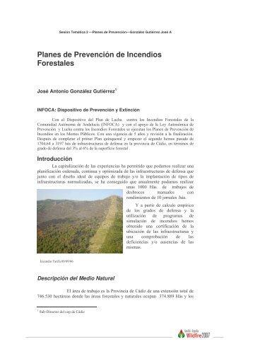 Planes de Prevención de Incendios Forestales