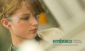 RelatóRio de sustentabilidade 2011 - Embraco