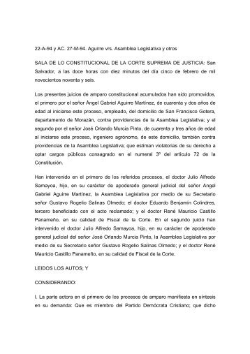 Amparo 22-A-94 y AC.pdf - Tribunal Supremo Electoral