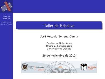 Material Kdenlive - Oficina de Software Libre de la Universidad de ...